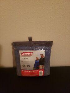 Coleman Rain Defense Eva Jacket Adult Size S/M Blue With Bag