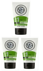 The-Real-Shaving-Co-Step-1-Daily-Face-wash-3x100ml-Mens-Brand-New