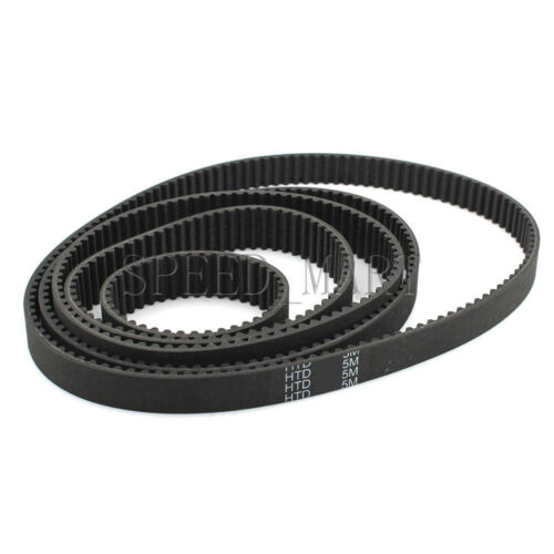 5PCS HTD5M Timing Belt 5M Belt Cogged Rubber Geared Closed Loop 15//20//25mm Wide
