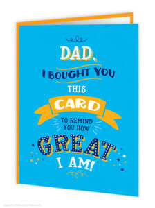 Dad daddy father birthday greetings card funny comedy humour novelty image is loading dad daddy father birthday greetings card funny comedy m4hsunfo