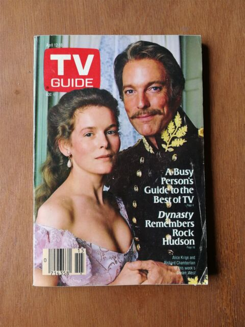 TV Guide April 12-18, 1986 - Richard Chamberlin - Rock Hudson - Linda Evans