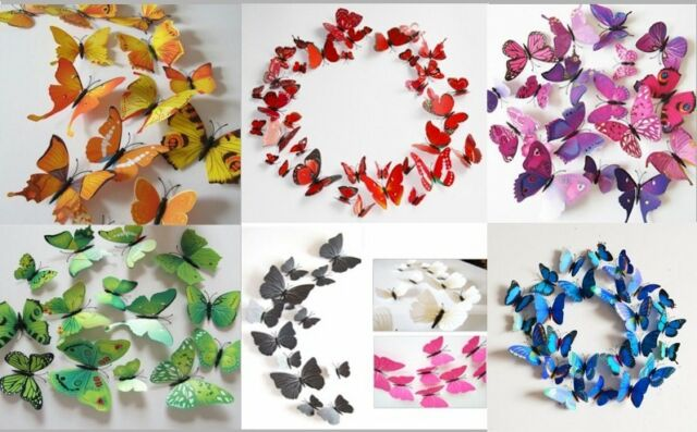 3D Butterfly Dorm Room, Party, Magnet/sticker wall decoration Birthday! Shower!