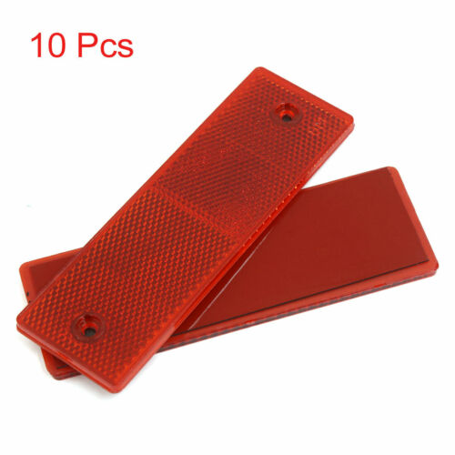 10pcs Warning Reflective Plate Tape Reflector Stickers w Screw Holes for Truck