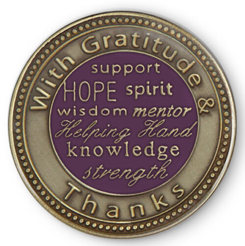 Sponsor Yellow Rose of FriendshipAA//NA//12 Step Program Recovery Coin//Medallion