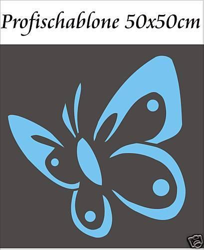 Wandschablonen Wanddekoration Kinderschablone Schablone  Schmetterling 40x40cm