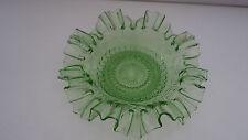 Antike güne Pressglas Schale * Anbietschale * gewellter Rand * Art Deco Vntage