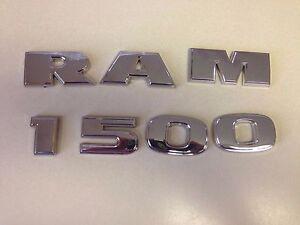 2012-2017-Dodge-Ram-1500-Chrome-Decal-Nameplate-Emblem-OEM-MOPAR