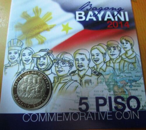 2015  5 piso Bagong Bayani Commemorative Coin Philippines mint CARDED NEW