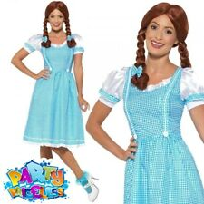 Ladies Country Girl Fancy Dress Costume Womens Rainbow Oz Dorothy Outfit New
