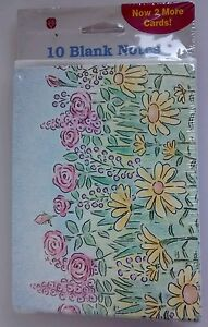 Greeting cards party supply home garden american greetings blank note cards floral 10 cards 10 envelopes sealed nos m4hsunfo