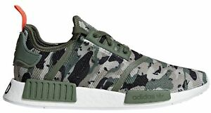 b4fd7db766471 Adidas NMD R1 Camo Pack G27914 Green Silver Red Boost Running Shoes ...