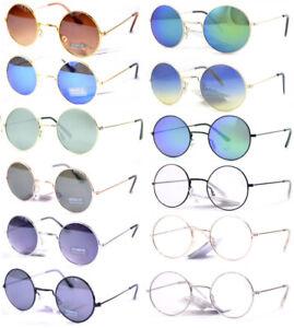 Occhiali Da Sole Vintage Retro' Tondi Rotondi Hippy John Style a Specchio Unisex