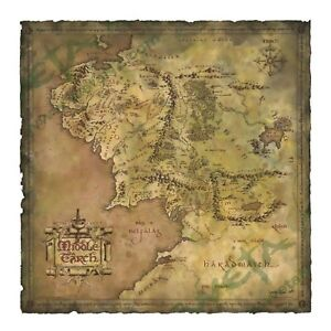 LOTR Hobbit Parchment Map of Middle earth An Unexpected Journey