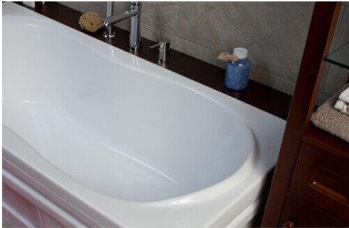 Badewanne Wanne Rechteck 120 x 75 cm Schürze Acryl GRA Ablauf Silikon GRATIS