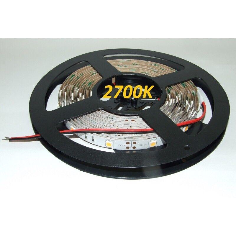 12VDC Led Tira Flexible 2500K-2800K SMD5050, IP20, 5 M (36 W, 150 Leds), cálido WH