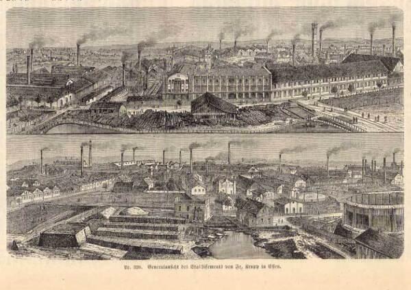 100% QualitäT Essen - Krupp - Holzstich Bei Spamer 1870