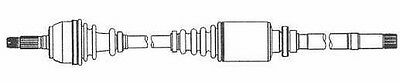 Citroen Saxo S0 S1 1996-2003 Driveshaft Right Transmission Replace Spare Part