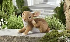 Rabbit Bunny Figurine Scratching Ear Cabin Country Resin Statue Ornament New