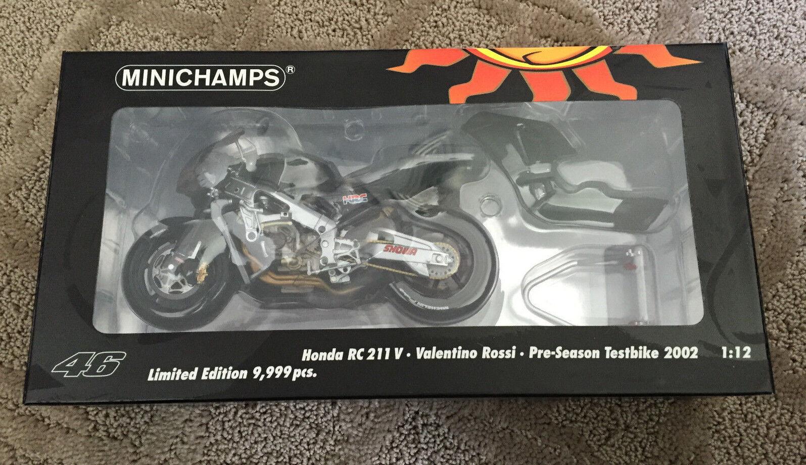presentando tutte le ultime tendenze della moda MINICHAMPS 2002 2002 2002 Honda RC211V Pre-Season Test Bike - Valentino 1 12 Diecast  varie dimensioni