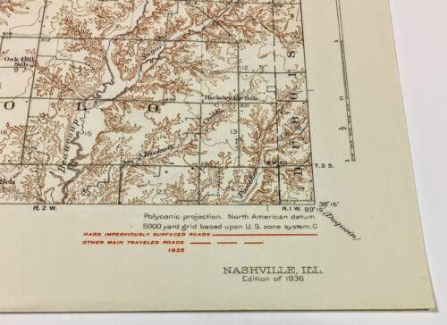 Vintage Illinois Quadrangle Topography Maps Editions 1892-1949