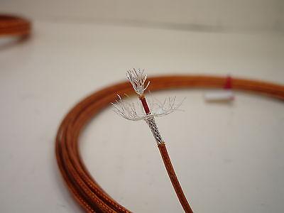 25 feet 20 AWG Shielded Silver Kapton Teflon Wire Coax