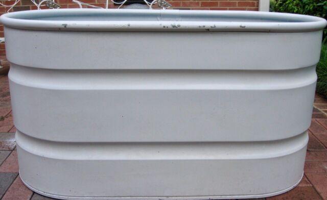 Galvanized Steel Oval Cooler/Planter/Tank/Trough TARTER 100 Gals PAINTED  UNUSED