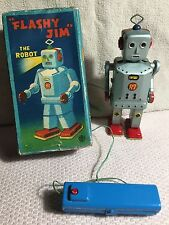 "Ultra Rare ""Flashy Jim"" Electronic Remote Robot Circa 1955 Mint in Box Japan WOW"