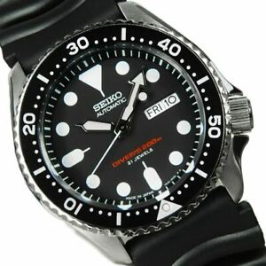 Seiko-Divers-Watch-SKX007J1-Made-in-Japan-With-Black-Strap-Made-In-Japan