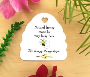 Personalised Printed Retail Honey Bee Hive Tags Business Price Display Labels