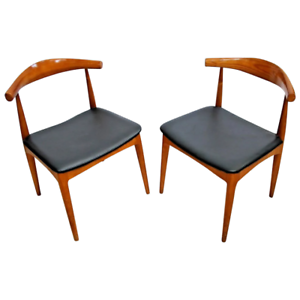 Incredible Details About Matching Side Accent Chairs Mid Century Modern Mcm Solid Walnut Pair Of Two 2 Pabps2019 Chair Design Images Pabps2019Com
