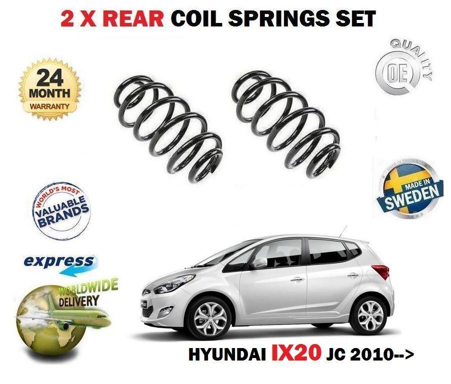 Für Hyundai Ix20 Jc Serie 1.4 1.6 + Crdi 2010  Neu 2x Fahrwerksfeder Hinten Satz