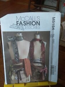 Oop-Mccalls-Fashion-Accessories-5154-scarves-belts-shimmy-charms-NEW