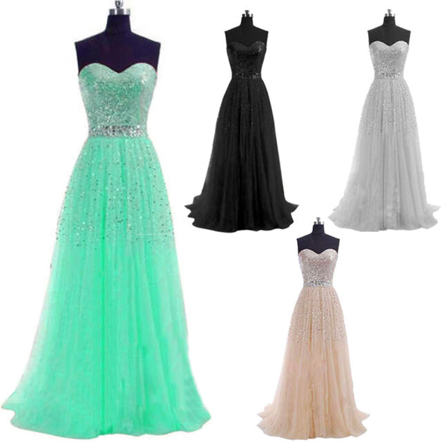 Long Sequin Strapless Dress Evening Prom Formal Dress Bridesmaid Prom Gown Dress