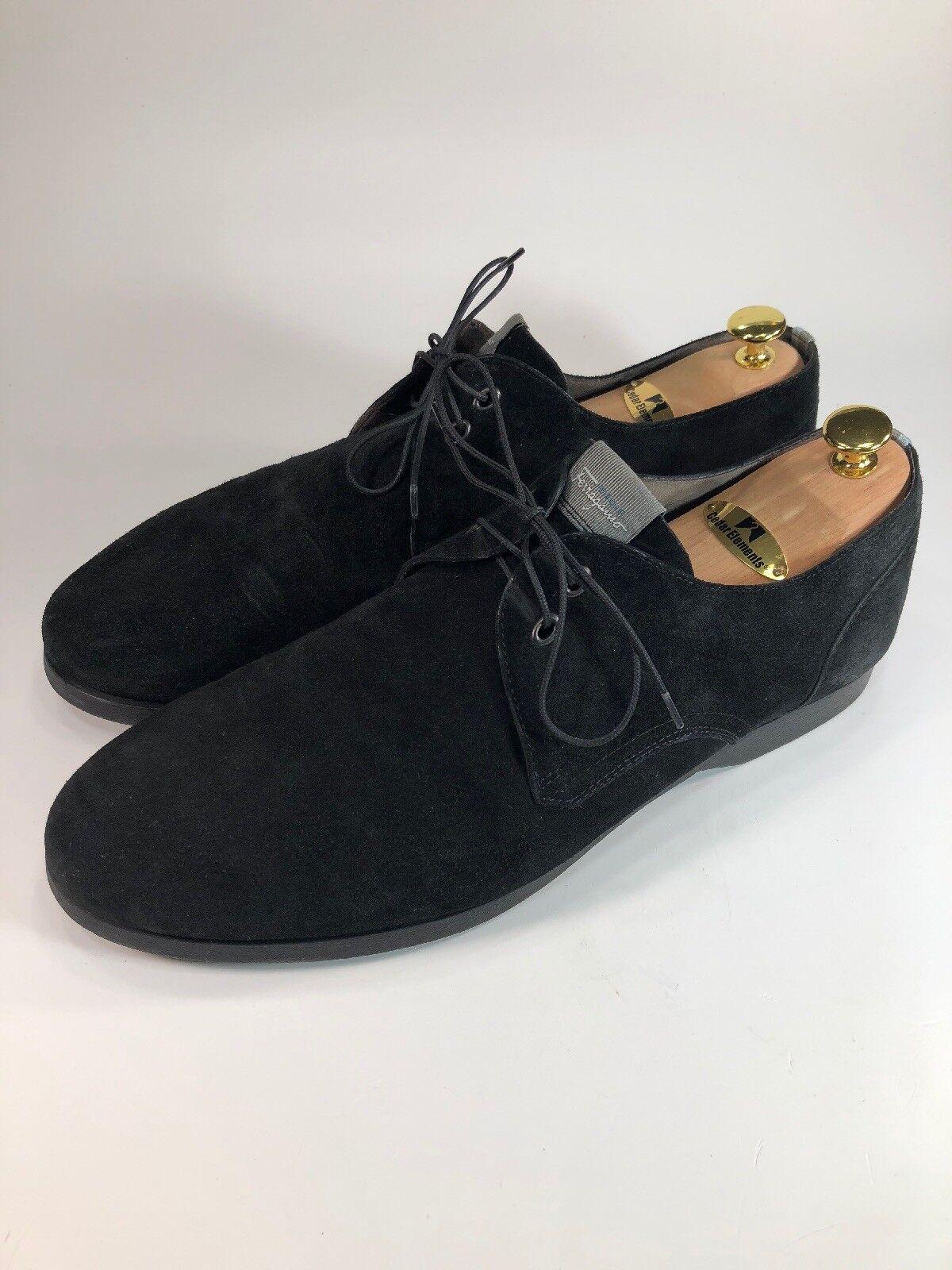 Salvatore Ferragamo 695   en daim noir en cuir à lacets chaussures Oxford pour Homme Taille 13 M