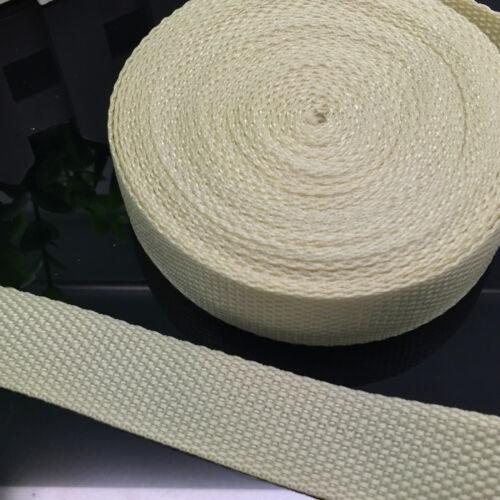 100/% NEUF nylon 25 mm Sangle De Cerclage Cartable Ceintures 2//5//10//50 yds multicolor
