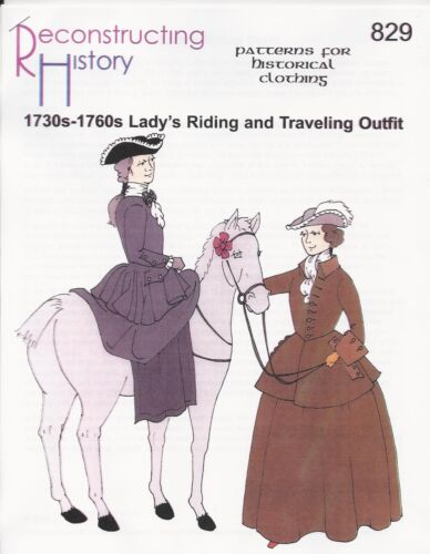 1730s-1760s Lady/'s Riding Outfit Schnittmuster RH 829