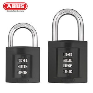 81d8eedc28d8 Details about NEW!!! ABUS 158 Standard Combination Padlock 40 or 50mm Solid  Zinc Die-Cast Body