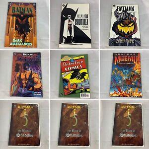 Lot Of 7 Batman: Bane, Ghosts, Chronicles The Gauntlet, Dark Allegiances DC TPB
