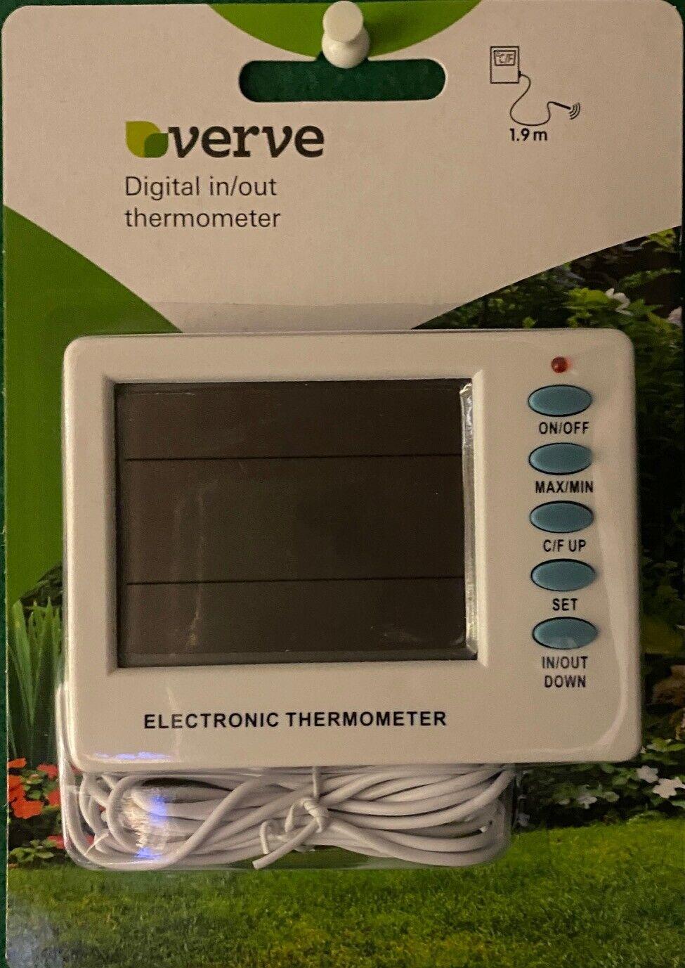 Thermometer Digital Display Max Min Temperature Remote Sensor Garden Greenhouse