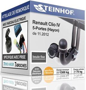 ATTELAGE-rigide-RENAULT-CLIO-IV-5-Portes-de-11-2012-FAISCEAU-SPEC-7-broches