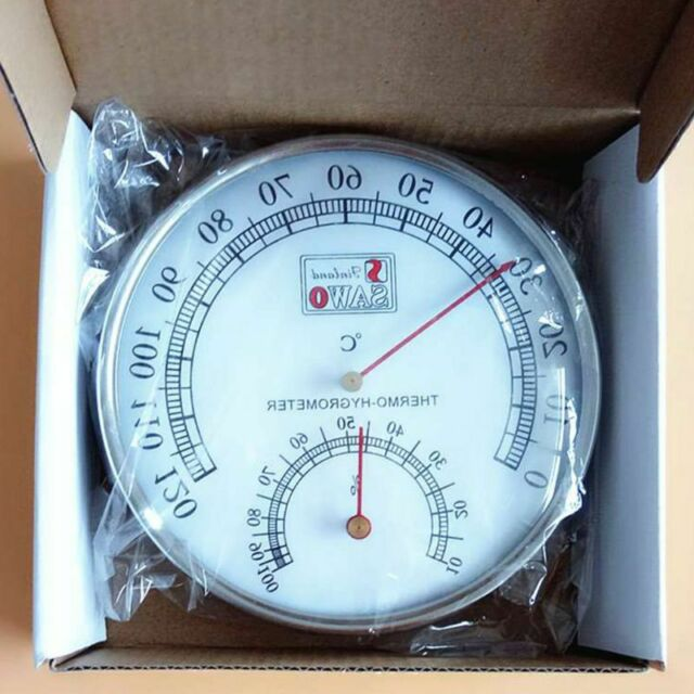 Sauna Thermometer Metal Case Steam Thermometer Hygrometer Outdoor Indoor Used