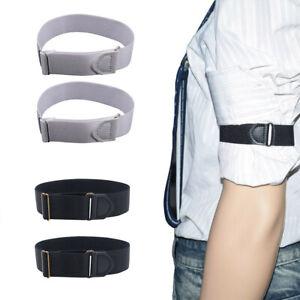 Two-Elastic-Adjustable-Armbands-Shirt-Garters-Sleeve-Hold-Ups-Sleeve-Holders-CA