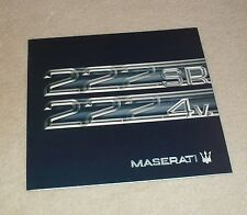 Maserati 222 SR & 222 4V Brochure 1991-1993 - English & Spanish Text