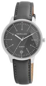 Damen-Uhr-Grau-Silber-Analog-Quarz-Metall-Leder-Modern-w-1900035001500