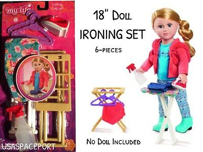 """18/"""" Doll IRONING SET Iron+Board Clothes Laundry for My Life as American Girl Boy"""