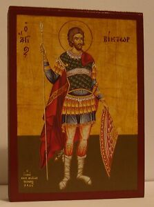 Santo VIKTOR Icono Icon Icona Icone St Victor Ikona Viktoras Icono ИКОНА
