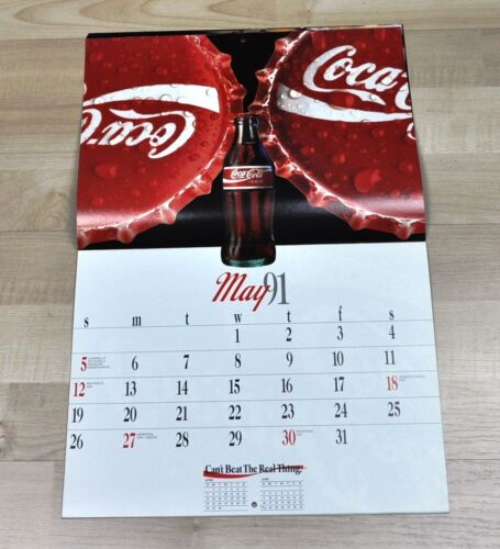 Schöner alter Coca-Cola Kalender 1991 USA Coke Calendar