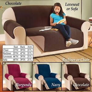 Waterproof Reversible Fleece Recliner Cover in Burgundy