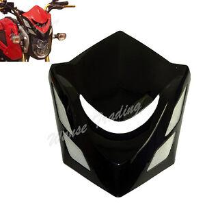 Front-Headlight-Head-Light-Lamp-Cowl-Cover-Black-Fit-2014-HONDA-Grom-MSX-125