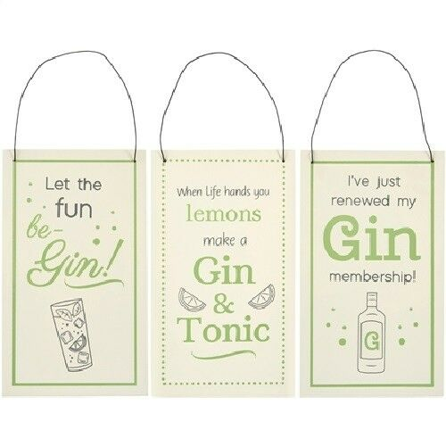 Gin Prosecco  Slogan Wooden Hanging Plaque Sign